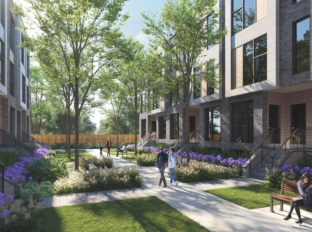Clonmore Urban Towns Courtyard Rendering